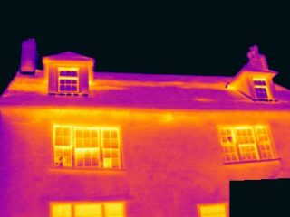 Heat bridging in a roof and ill fitting windows